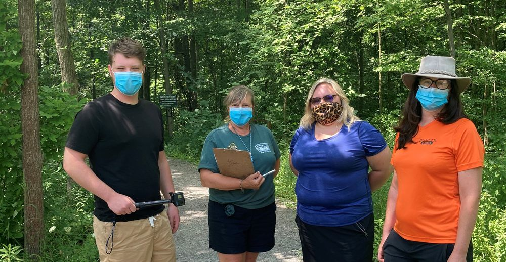 Jacob Graham (producer and editor), Rita Maier (project coordinator) and Kyra Moratz & Lisa Staton (nature guides).